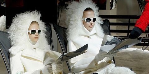 Eyewear, Vision care, Textile, Sunglasses, Goggles, Fur, Costume accessory, Fashion design, Animal product, Natural material,