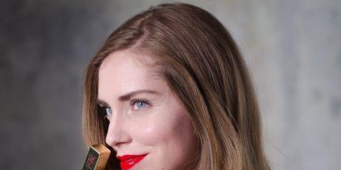 Lip, Eyelash, Beauty, Earrings, Lipstick, Nail, Long hair, Blond, Brown hair, Lip gloss,