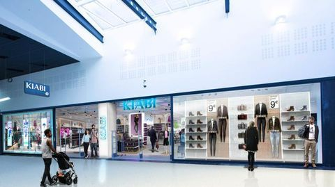Clothing, Ceiling, Commercial building, Fixture, Fashion, Retail, Light fixture, Service, Outlet store, Advertising,
