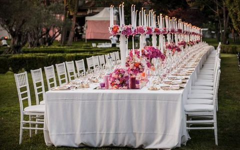 Tablecloth, Petal, Textile, Table, Furniture, Decoration, Linens, Pink, Lavender, Chair,