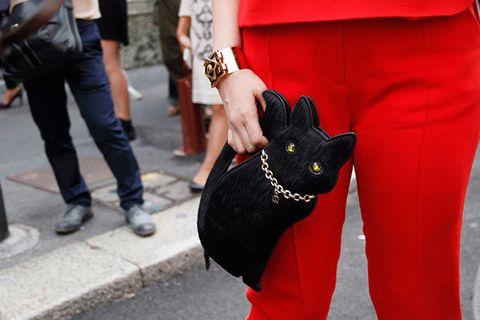 Clothing, Trousers, Bag, Denim, Street fashion, Fashion, Carmine, Pocket, Carnivore, Luggage and bags,