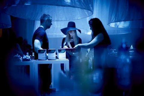 Hat, Sun hat, Conversation, Fedora, Ice hotel, Scene,