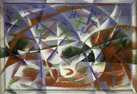 Colorfulness, Pattern, Art, Art paint, Paint, Creative arts, Visual arts, Triangle, Modern art, Painting,