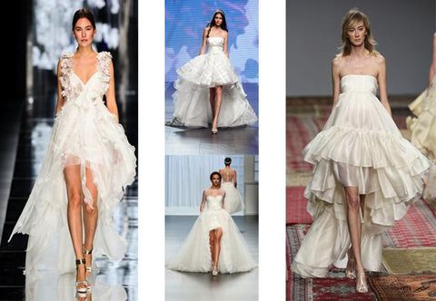 Clothing, Dress, Photograph, White, Formal wear, Gown, Wedding dress, Style, Bridal clothing, Embellishment,