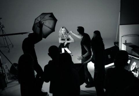 Interaction, Umbrella, Monochrome, Monochrome photography, Black-and-white, Silhouette, Shadow, Collaboration, Stock photography, Film studio,