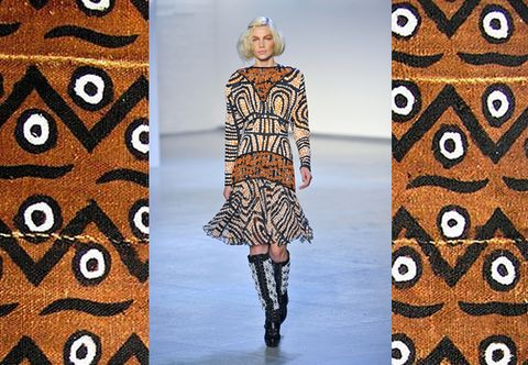 Clothing, Brown, Sleeve, Pattern, Style, Street fashion, Fashion, Visual arts, Design, Pattern,