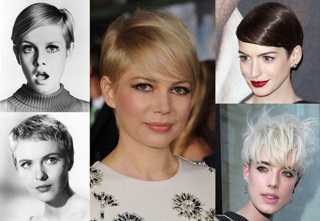 Tagli di capelli corti di attrici