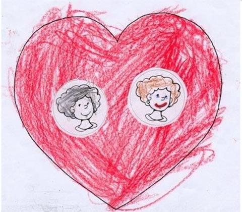 Red, Heart, Organ, Art, Love, Magenta, Artwork, Illustration, Paint, Child art,