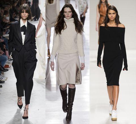 Clothing, Leg, Sleeve, Shoulder, Fashion show, Joint, Outerwear, Style, Fashion model, Waist,