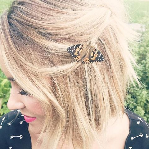 Hairstyle, Insect, Pollinator, Arthropod, Style, Beauty, Blond, Eyelash, Liver, Brown hair,