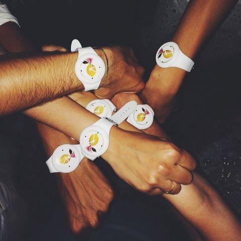 Finger, Wrist, Nail, Toe, Bracelet, Nail care,