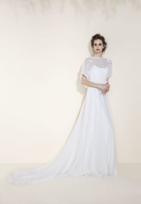 Clothing, Sleeve, Shoulder, Dress, Textile, Photograph, White, Gown, Formal wear, Wedding dress,
