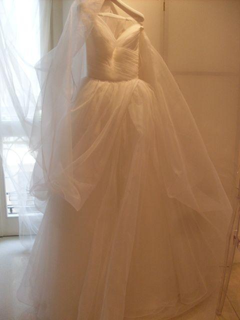 Brown, Dress, Textile, Bridal clothing, Gown, Formal wear, One-piece garment, Wedding dress, Pattern, Embellishment,