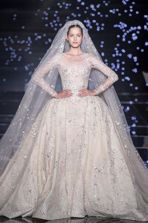Clothing, Dress, Sleeve, Bridal clothing, Textile, Photograph, Veil, Bridal veil, Wedding dress, Gown,
