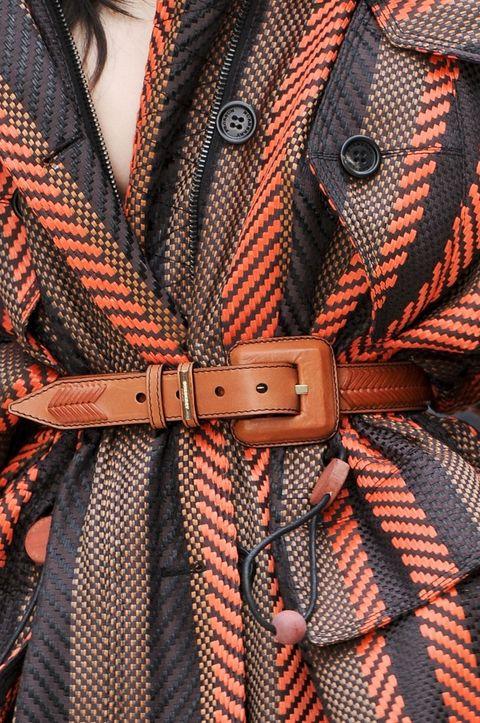 Collar, Orange, Pattern, Textile, Red, Fashion, Button, Design, Strap, Plaid,
