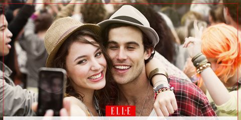 People, Hat, Plaid, Tartan, Happy, Fashion accessory, Facial expression, Pattern, Interaction, Friendship,