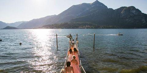 Matrimonio da favola: sul lago di Como le nozze magiche di una coppia di sposi americana