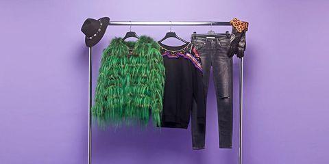 Product, Purple, Clothes hanger, Lavender, Violet, Fashion design, Silver, Baggage, Shoulder bag, Home accessories,