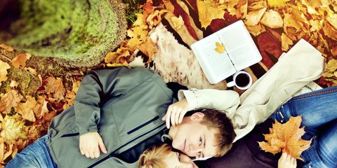 Human, Denim, People in nature, Sharing, Comfort, Lap, Deciduous, Autumn, Baby, Playing with kids,
