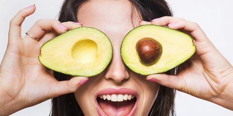 Human, Finger, Lip, Yellow, Skin, Fruit, Natural foods, Happy, Food, Produce,