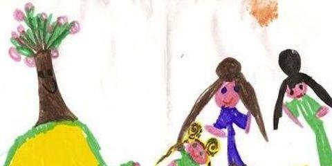 Interaction, Art, Illustration, Artwork, Painting, Creative arts, Graphics, Drawing, Paint, Child art,
