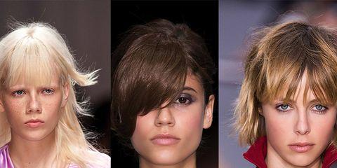 Lip, Hairstyle, Chin, Eyebrow, Eyelash, Style, Bangs, Step cutting, Iris, Fashion,