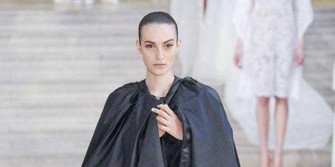 Outerwear, Style, Costume design, Fashion, Cloak, Street fashion, Fashion model, Haute couture, Gown, Fashion design,