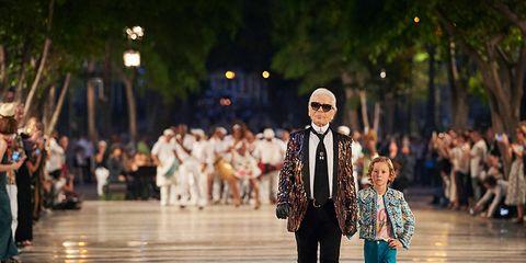 Crowd, Street, Hat, Suit, Street fashion, Pedestrian, Walking,