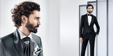 Clothing, Dress shirt, Collar, Sleeve, Coat, Outerwear, Standing, Formal wear, Style, Facial hair,