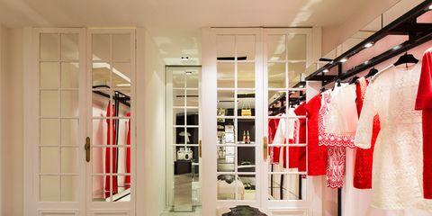 Floor, Room, Flooring, Interior design, Clothes hanger, Ceiling, Door, Fixture, Home door, Closet,