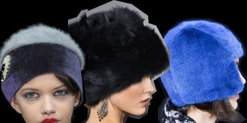 Chin, Textile, Eyelash, Style, Headgear, Costume accessory, Fashion, Fur, Beret, Fashion design,