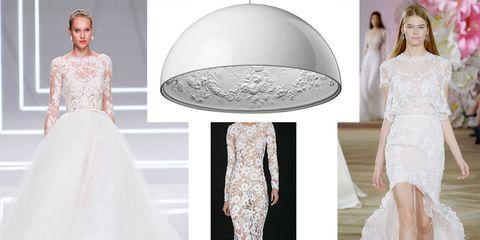10 abiti da sposa in pizzo che saranno di moda nel 2017