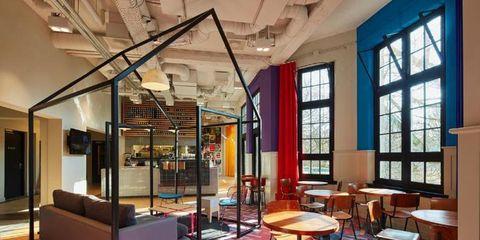 Interior design, Lighting, Floor, Room, Flooring, Glass, Ceiling, Furniture, Couch, Interior design,