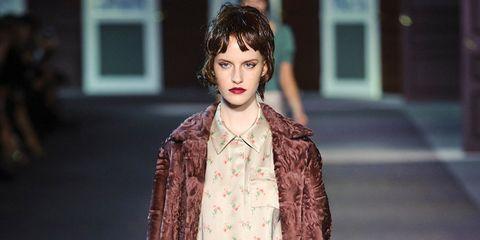 Eye, Textile, Style, Street fashion, Fashion, Fashion model, Long hair, Red hair, Brown hair, Fashion design,
