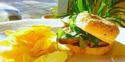 Food, Sandwich, Finger food, Ingredient, Produce, Baked goods, Breakfast, Bun, Leaf vegetable, Meal,