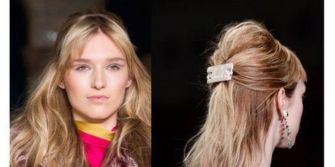 Hair, Ear, Hairstyle, Earrings, Style, Beauty, Blond, Fashion, Neck, Long hair,