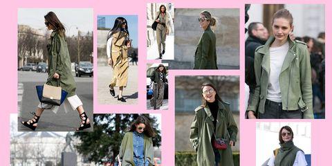 Paris Fashion Week per la Moda Inverno 2015: militaria versione streetstyle