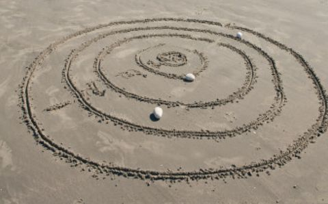 Photograph, Landscape, White, Photography, Sand, Circle, Space, Spiral, Silver, Aerial photography,