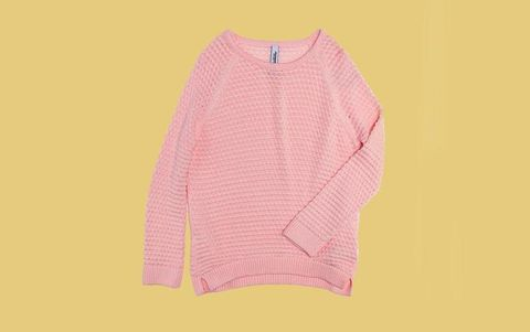 Product, Yellow, Sleeve, Collar, Textile, Pink, Magenta, Sweater, Pattern, Baby & toddler clothing,