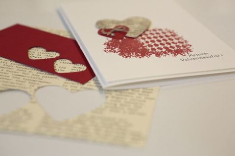 Red, Paper product, Paper, Heart, Document, Creative arts, Craft, Love, Needlework, Stationery,