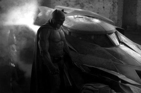 Fictional character, Batman, Darkness, Monochrome, Automotive window part, Justice league, Action film, Costume, Superhero, Action figure,