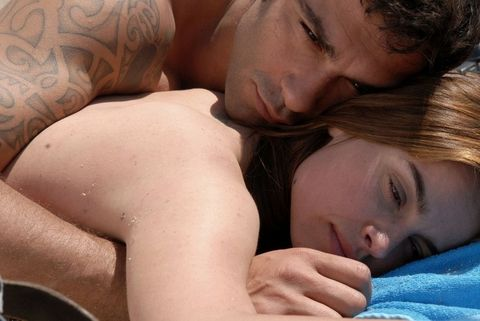 Lip, Cheek, Skin, Comfort, Interaction, Muscle, Beauty, Neck, Love, Tattoo,