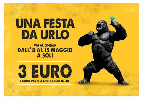 Yellow, Font, Terrestrial animal, Advertising, Primate, Poster, Snout, Illustration, Graphics, Paw,