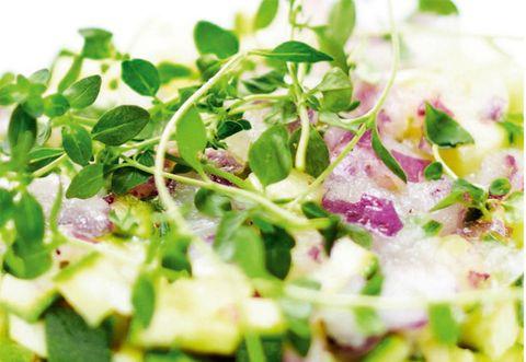 Salad, Food, Vegetable, Leaf vegetable, Cuisine, Herb, Garnish, Produce, Vegetarian food, Recipe,