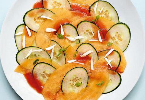 Food, Vegetable, Produce, Ingredient, Dishware, Tomato, Dish, Cucumber, Plate, Salad,