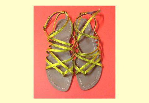 Footwear, Yellow, Shoe, Orange, Carmine, Athletic shoe, Tan, Maroon, Walking shoe, Sneakers,