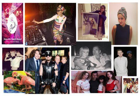 Arm, Human, Photograph, Collage, Purple, Fashion, Magenta, Violet, Flash photography, Ceremony,