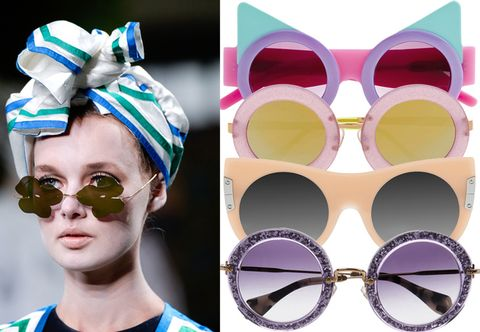 Eyewear, Style, Goggles, Sunglasses, Violet, Circle, Headpiece, Eye shadow, Earrings, Cosmetics,