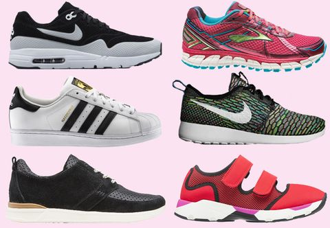 Footwear, Product, Green, Red, Shoe, Photograph, White, Athletic shoe, Pink, Sportswear,