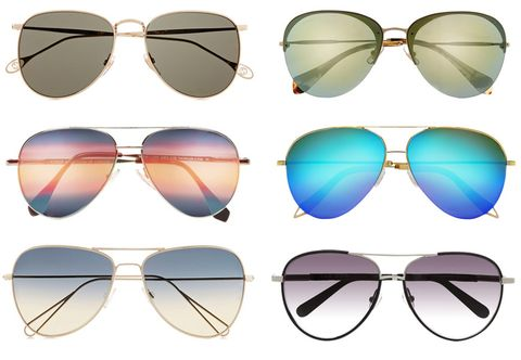 Eyewear, Vision care, Blue, Glasses, Brown, Yellow, Personal protective equipment, Tints and shades, Line, Reflection,
